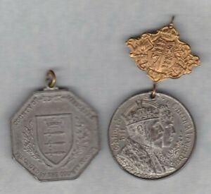 Trempé Deux 1902 & 1935 Médailles Commémoratives Dans Près De Extrêmement Fine Condition-afficher Le Titre D'origine PréParer L'Ensemble Du SystèMe Et Le Renforcer