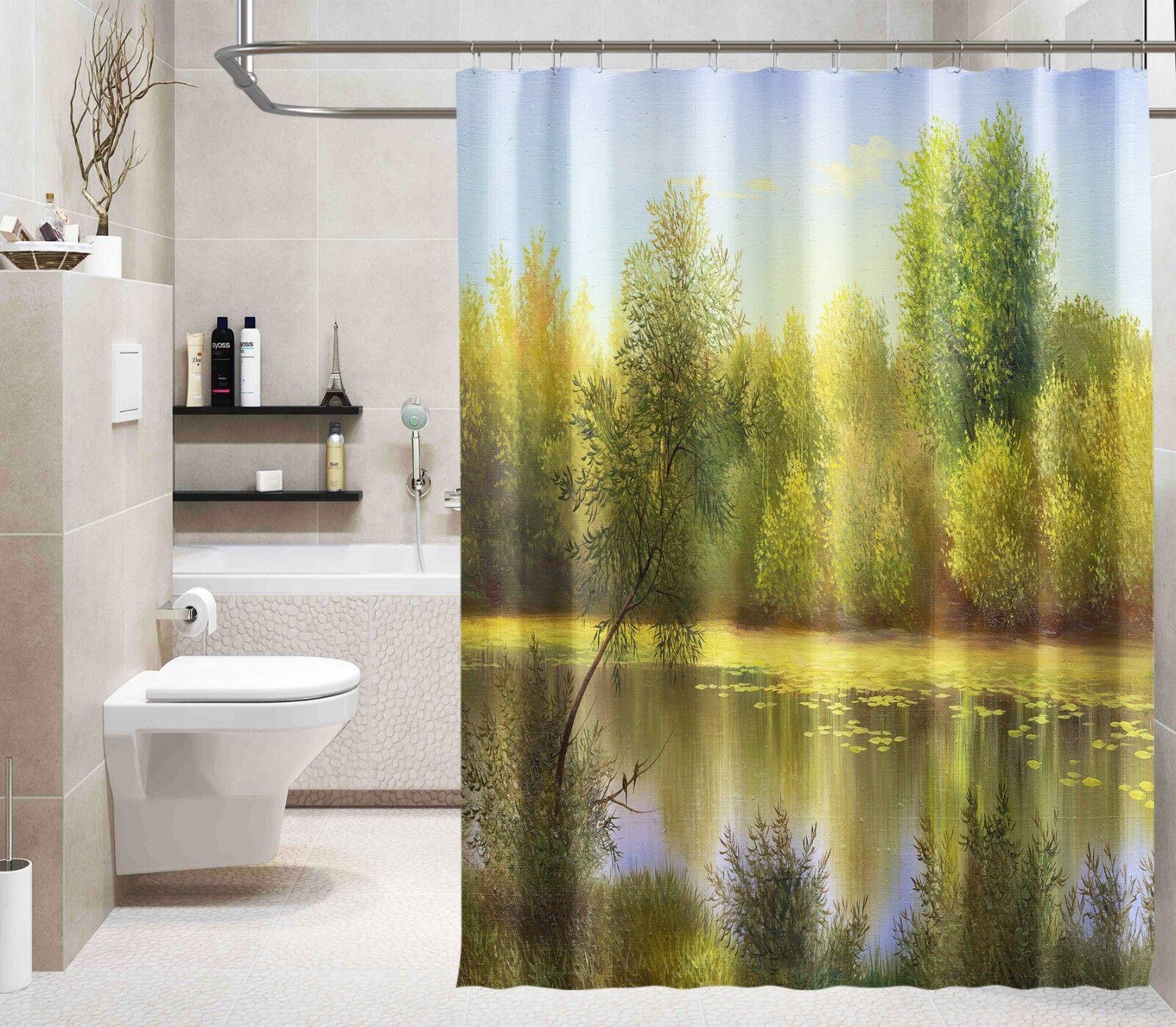 3D Baum Fluss 212 Duschvorhang Wasserdicht Faser Bad Bad Bad Daheim Windows Toilette DE | Elegante Form  8dcff0