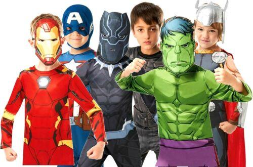 ENFANT AVENGERS INFINITY WAR Super Héros Déguisement Monde Livre Jour Garçons Costumes