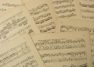 Vintage-sheet-music-paper-maybe-for-art-craft-decoupage-cards-apx-100-sheets