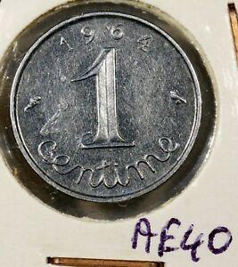 Coin MONNAIE France, Epi, 1 Penny 1964, Steel Km# 928 AE40