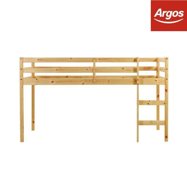 Kaycie 2ft6 Shorty Wooden Mid Sleeper Bed Frame - Pine | eBay