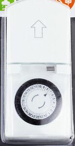 mechanische zeitschaltuhr aussensteckdose zeitschalt steckdose ip44 wetterfest ebay. Black Bedroom Furniture Sets. Home Design Ideas