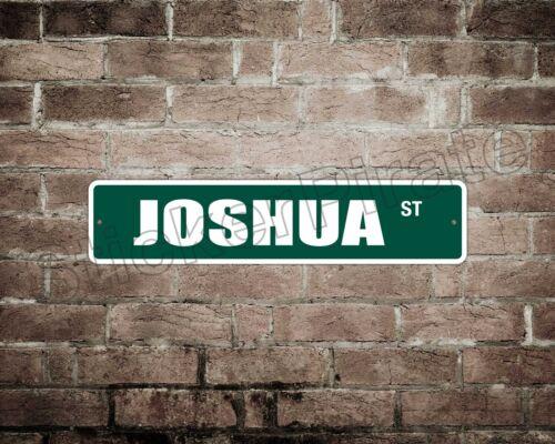 """*Aluminum* Joshua St 4/"""" x 18/"""" Metal Novelty Street Sign  SS 2020"""
