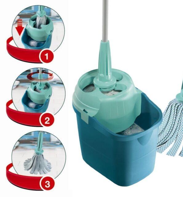 Leifheit Twister Spin Wet Mop Set Easy Wring Bucket Mop Ebay