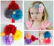 10pcs Baby Toddler Girl Princess Kids Flower Headband Hair Bow Band Accessories