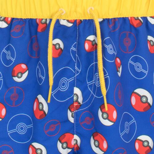 Boys Pokemon Swim ShortsPokeball Swimming TrunksPokemon Board Shorts