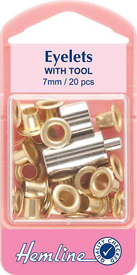 20pcs 7mm Eyelets With Tool in Black