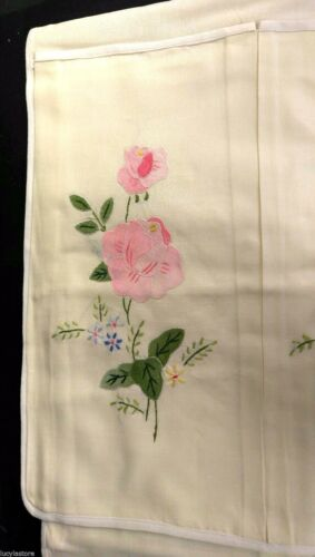 """New Wall Hanging Shoe Organizer 6 Pocket Hand Made Floral Embroidered  32/""""x18/"""""""
