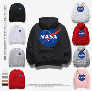 c5d8c0d99 nasa Fashion Men's Fleece Sweater Hip-hop NASA Print Unisex Hoodie ...