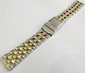 Bracciale Bicolor Modello Breitling Chronomat Doppia Chiusura Sicurezza Ansa 20 Vz2dvt1e-07232943-136970949