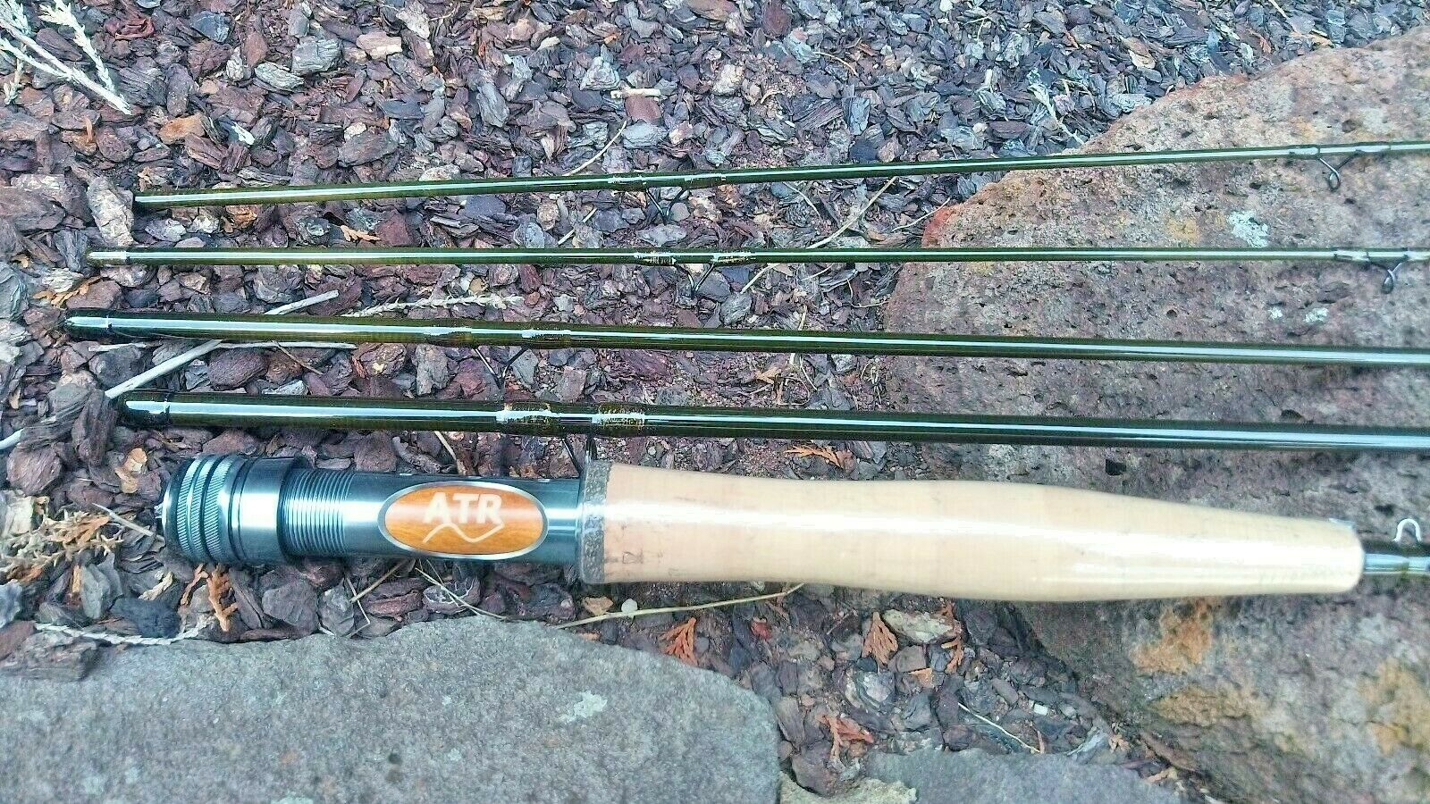 ATR 6904 IM10 Carbon Fast 9ft 6wt 4 piece Fliegen Rod, with Rod Tube and Spare Tip