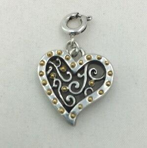 Brighton-GATE-OF-LOVE-HEART-Snap-Charm-NWOT-J93571