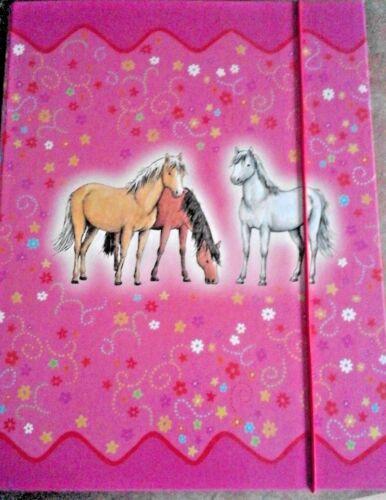 Sammelmappe Pferd  PonyHeftbox Sammelbox Ablagemappe  Ordner Mappe DIN A 4