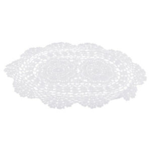 Oval Antique Crochet Lace Doilies Home Coffee Shop Table Designs Decor Craft