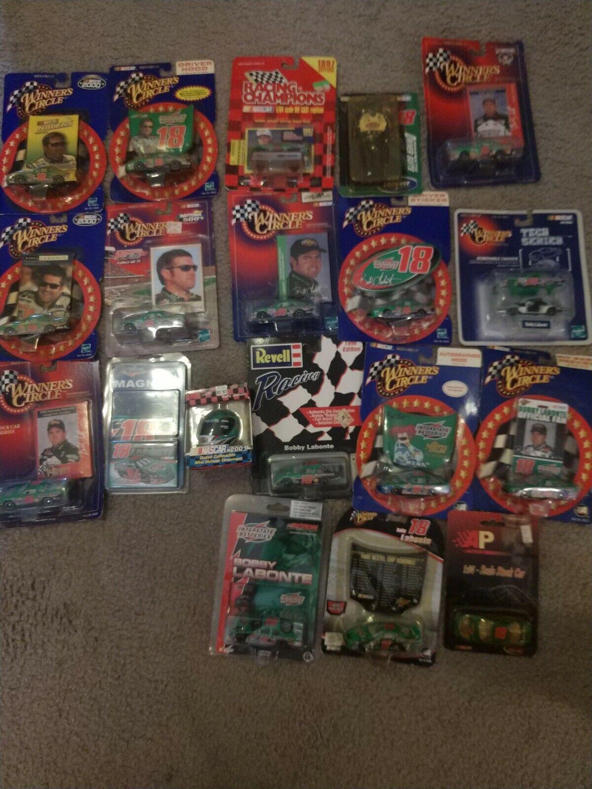 Bobby Labonte Nascar Diecast Car Collection 1 64, 16 cars and 3 bonus items