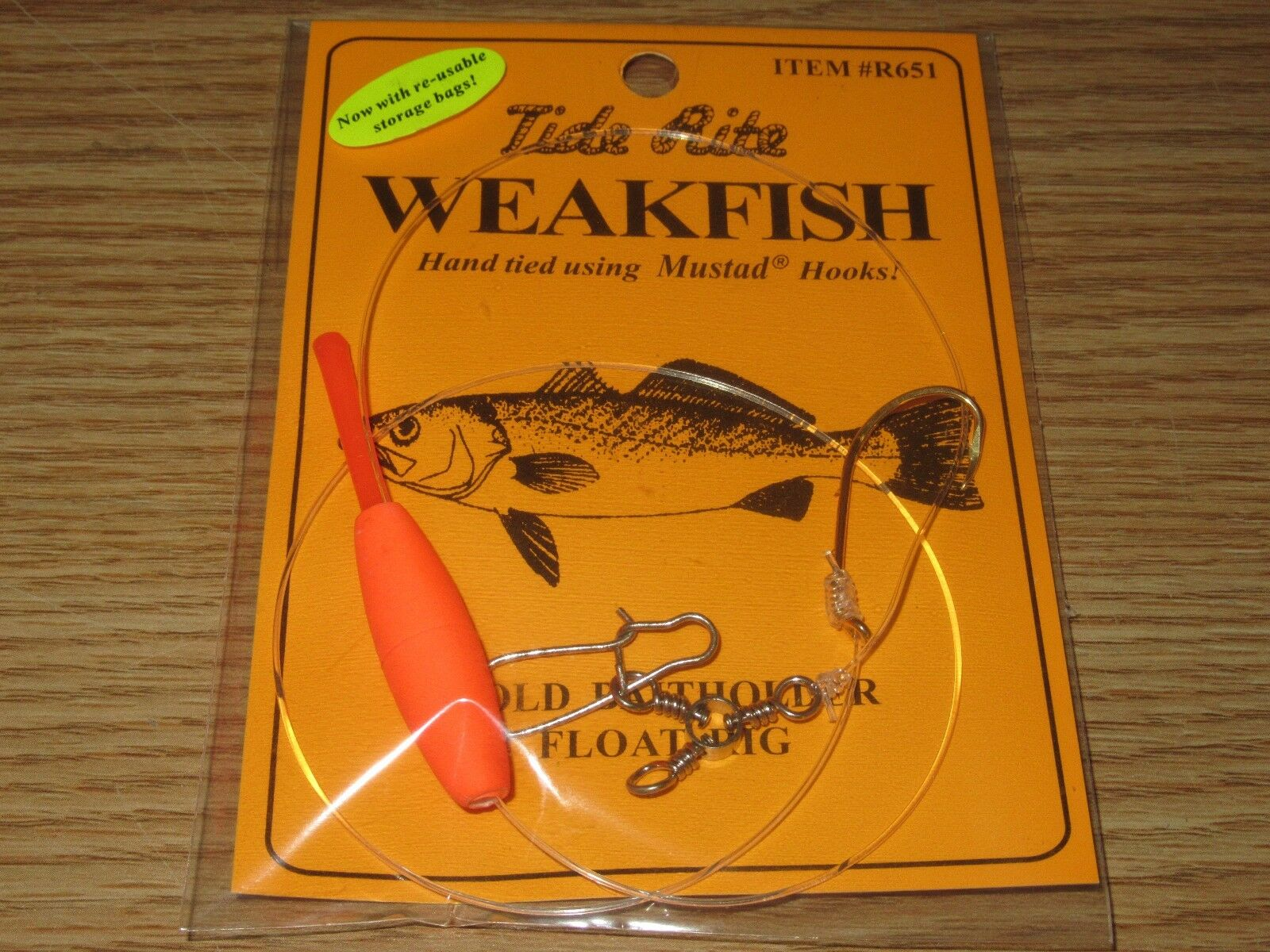 24 WEAKFISH SEA TROUT TIDE RITE R651 BAITHOLDER  FLOAT RIG  FISHING MUSTAD HOOKS  factory outlet store