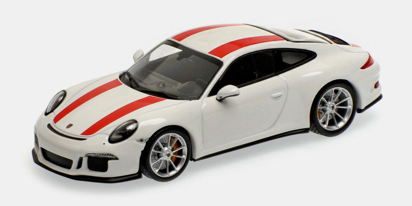 Buen Porsche 911r (991) 2016 - blancoo   rojo - 1   43 - lim.ed.504 unidades.