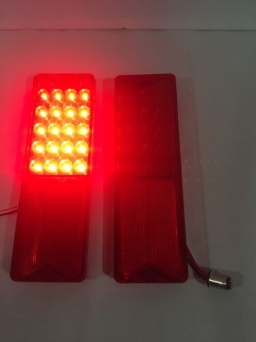 Pair Pickup LED Tail Light Assemblies w// Housing for 1967-72 Chevy//GMC Truck