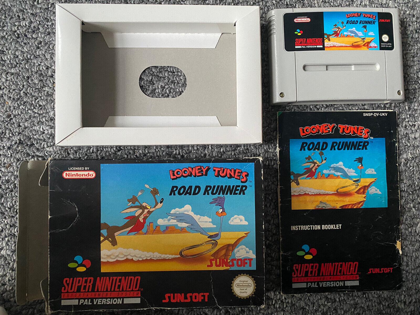 Looney Tunes Road Runner For Super Nintendo/SNES PAL UK RARE