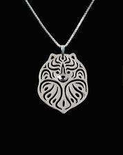 Pomeranian Silver Charm Pendant Necklace, Dog Lover, Friend Gift