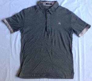 22bac271 Burberry London Black Label Polo camiseta Cuadros Brit Nova Japón ...