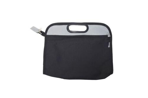 2 Colour Black Grey School Music Zip Bag Sheet Books Recorder Kids Learner A4