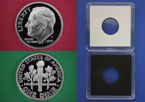 Silver 2006 S Proof Roosevelt Dime With 2x2 Case Deep Cameo Combined Shipping