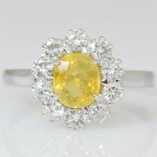 18ct Gold Yellow Sapphire And Diamond Ring