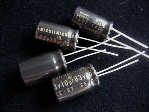 4pcs-ELNA-RBS-Silmic-10-F-63V-CE-BP-bi-polar-nonpolar-capacitors