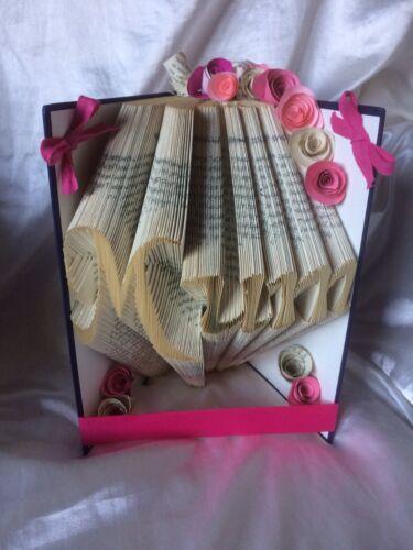 Mum Mothers Day Folded Book Art Folded Book Folding Art Sculpture Present