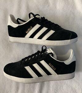 ADIDAS-ORIGINALS-GAZELLE-Mens-Sneakers-Black-White-8-5