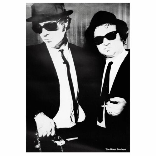 Blues Brothers Poster - Cooles Filmplakat schwarz-weiß - Hochformat 70 x 100 cm