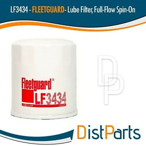 LF3434 Fleetguard Lube Filter, Spin-On Full Flow (Kubota HHK70-14070)
