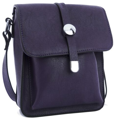 Big Handbag Shop Womens Fashion Faux Leather Messenger Cross Body Bag