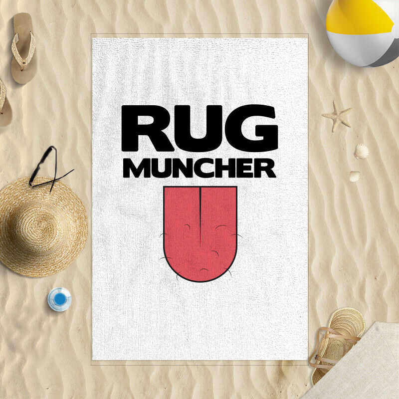 "58x39"" Rug Muncher Hairy Tongue Design"