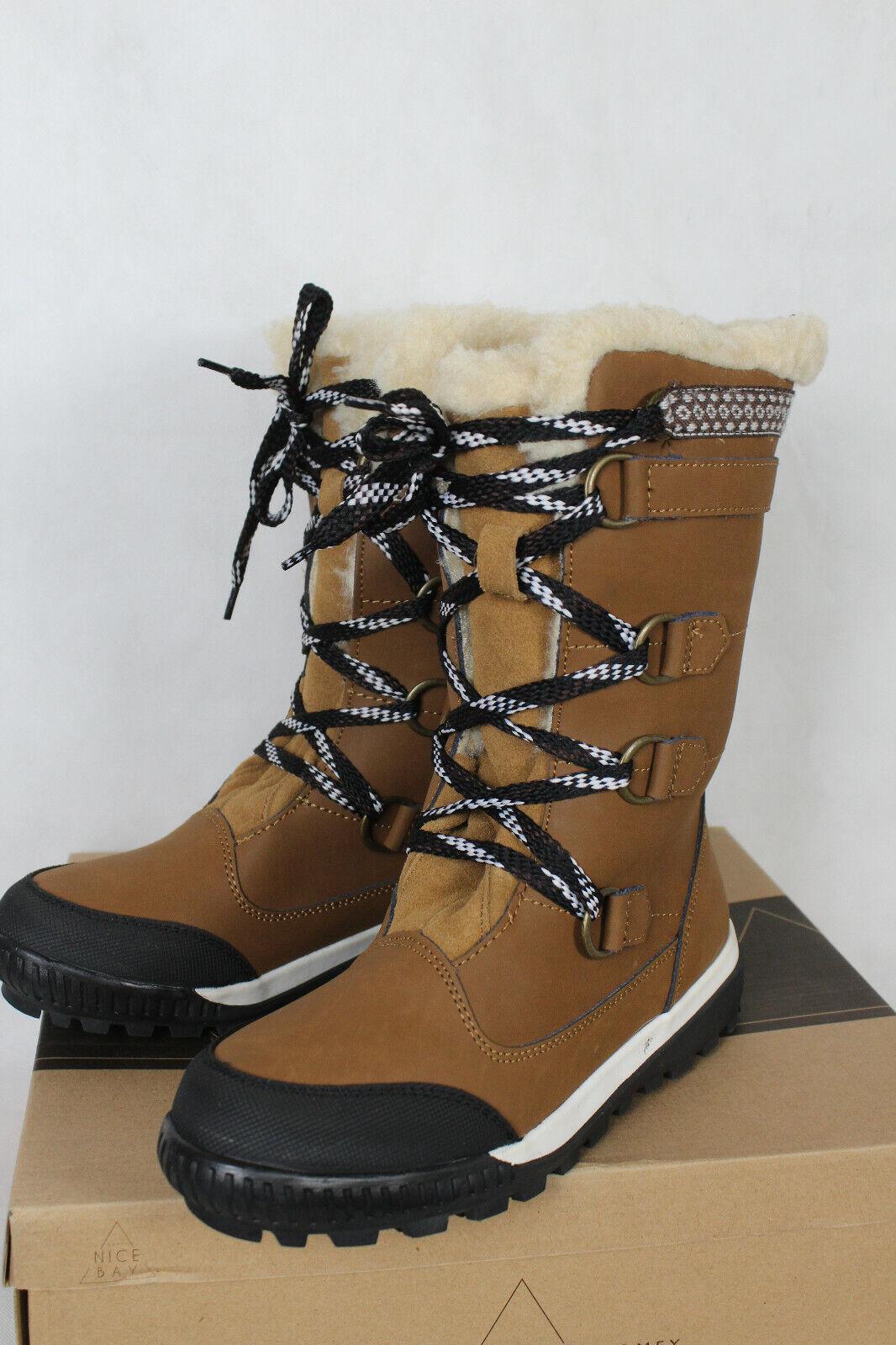 Nicebay Borah Chaussures bottes en cuir avec Laine Doubleure Femmes Taille 40,neu, LP