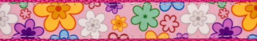 Country Brook Design® 3//4 Inch May Flowers Ribbon on Rose Nylon Webbing 5 Yards