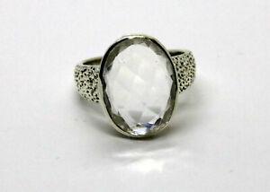 Détails sur Bague argent cristal de roche -Bague taille 59-Bague vintage  argent femme