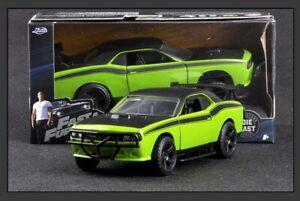Jada-1-32-Rapido-y-Furioso-Dodge-Challenger-SRT8-coche-del-musculo-Modelos-Diecast-Toys