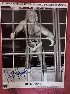 Original signiertes Foto Photo signed 8x10 Hulk Hogan wwf wwe wcw Wrestling