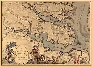 1939 PICTORIAL map Virginia showing Jamestown Williamsburg Yorktown ...