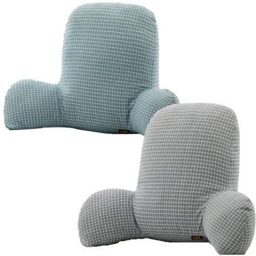 Blesiya 2 Bed Rest Reading Pillow Soft Velvet Chair Couch Cushion TV Gaming