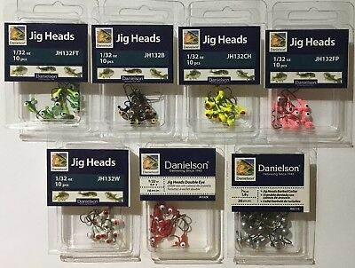 Roundhead Jig Heads 1//16oz Mixed colors /& styles See Pics
