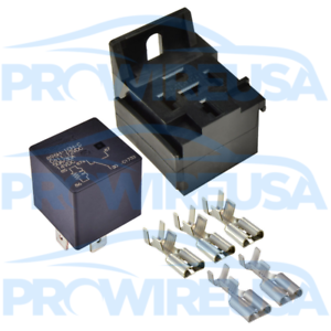 Details about 50 Amp Mini Automotive Power Relay Kit With Stackable on