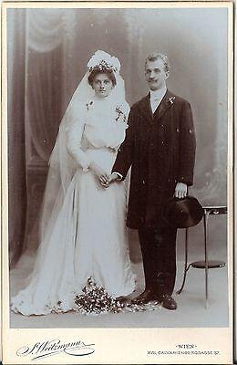 CAB photo Schönes Hochzeitsbild - Wien 1900er