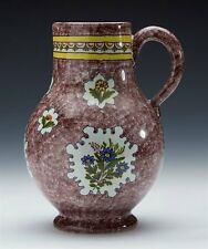 ANTIQUE/VINTAGE FAIENCE DELFT FLORAL PAINTED JUG 19/20TH C.