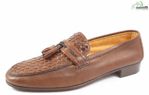 NEW Beltrami Terry Cloth Lined Deer Skin Leather Loafers Sz. UK 10.5/ US 11.5