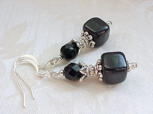 Little Black Dress Earrings Wardrobe Staple Basic Formal Dinner Party Cocktails