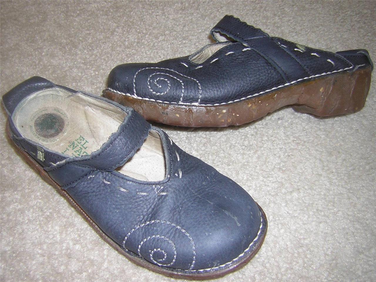 El Naturalista Naturalista Naturalista Iggdrasil N096 Mary Jane Mule Clog shoes bluee Women's Sz US 5-5.5 e81ce2